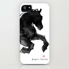 Horse (Devil cantering) iPhone Case