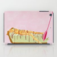 pie iPad Cases featuring Pink Pie by Nadina Embrey - Artist / Illustrator