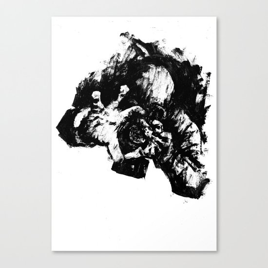 Leroy (Messy Ink Sketch) Canvas Print