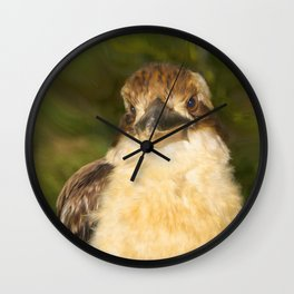 Painted laughing kookaburra Wall Clock
