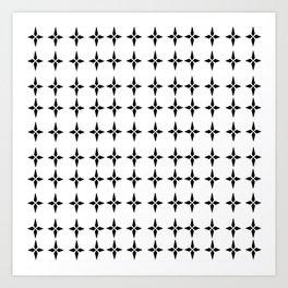 Four.Point.Print (White) Art Print