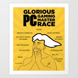 PC Master Race PCMR Art Print