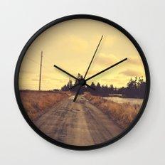 The Road Not Taken Wall Clock