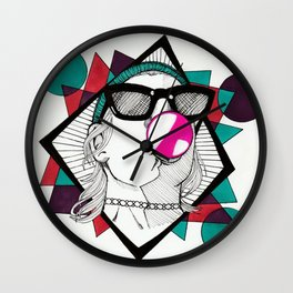 Bubblegum Wall Clock