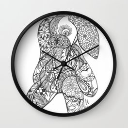 THE BUNNY WHO LOST IT'S WAY..... Wall Clock
