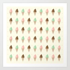 Ice Cream - Whipped Art Print
