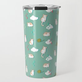 Chubby Kitty Pattern Travel Mug