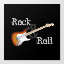 Rock and Roll Guitar Canvas Print