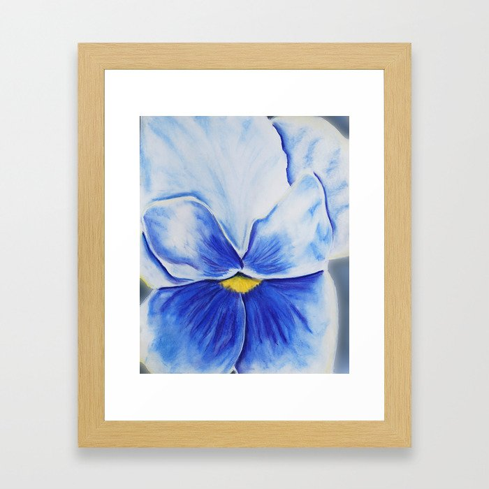 Pansy Blues Framed Art Print
