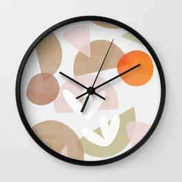 Minimal Autumnal Dance 1 Wall Clock