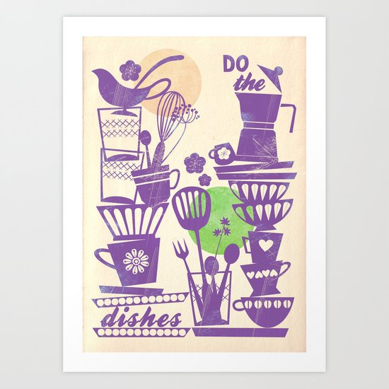 do the dishes vintage Art Print