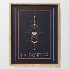 La Papesse or The High Priestess Tarot Serving Tray