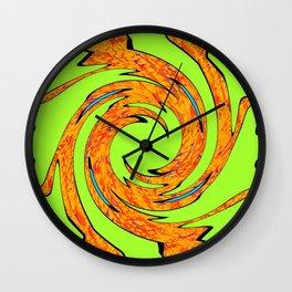 Groovy Green 2 Wall Clock