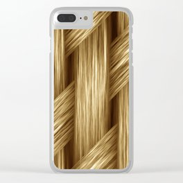 Seamless Natural Blended Fibre Weave Artistic Artwork Abstract Clear iPhone Case