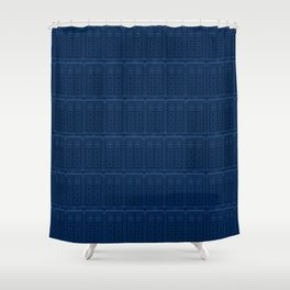 Blueprint shower curtains society6 tardis blueprint pattern doctor who shower curtain malvernweather Gallery