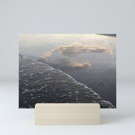Cloud & Wave Reflections re Mini Art Print