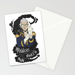 Manners Maketh Man Stationery Cards