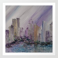 Purple Urban Sprawl Art Print