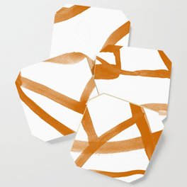 Abstract Map orange Nr. 2 Coaster