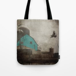 Rustic Teal Barn Country Art A158 Tote Bag