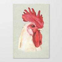 cock Canvas Prints featuring Cock by Marta Bocos