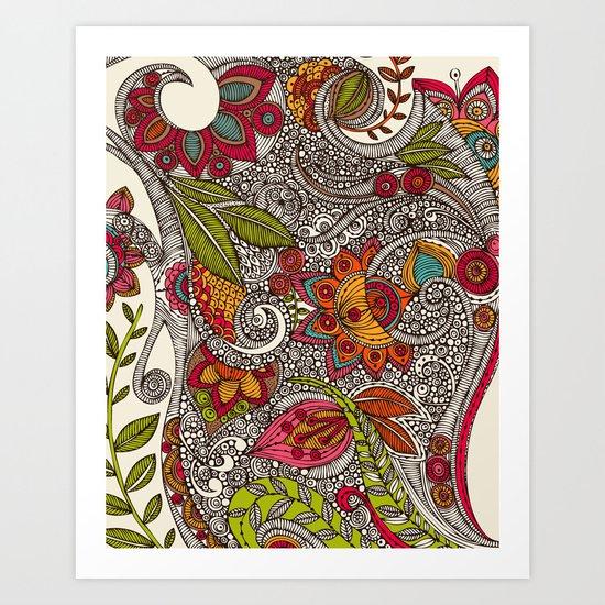 Random Flowers Art Print