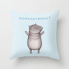 Hugapotamus? Throw Pillow