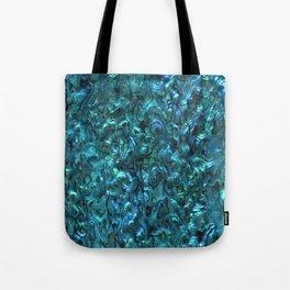 Abalone Shell | Paua Shell | Cyan Blue Tint Tote Bag