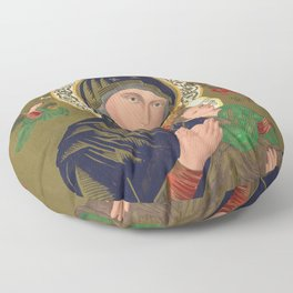 Our Lady of Perpetual Help, 1870 Floor Pillow