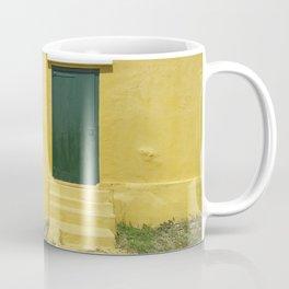 Yellow Green Caribbean house Coffee Mug