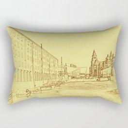 Albert Dock, Liverpool (Digital Art) Rectangular Pillow