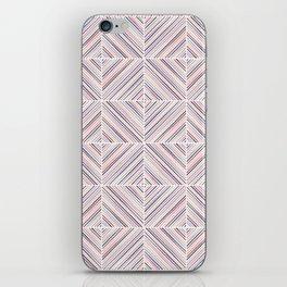 Herringbone Diamonds - Mauve iPhone Skin