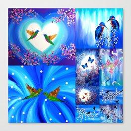 Blue designs Canvas Print