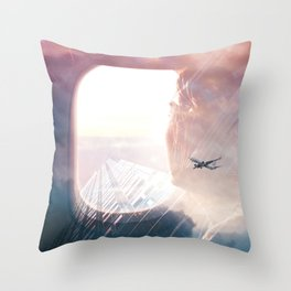 In the plane Throw Pillow