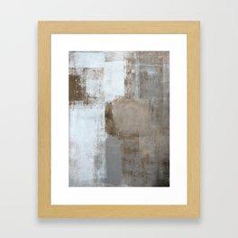 Calm and Neutral Framed Art Print