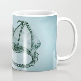 """Material Girl"" by Amber Marine ~ (Sea Mist Version) Graphite Dragon Illustration, (Copyright 2005) Coffee Mug"