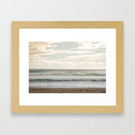 Agios Gordios beach at Corfu island, Greece Framed Art Print