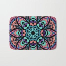 Mandala Pinks & Blues  #GraphicArt #SpiritualArt Bath Mat
