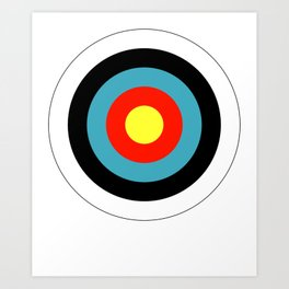 Bullseye Archery Target Shooter Rings Art Print