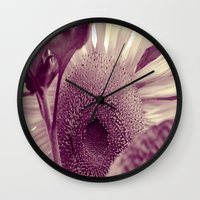 sunflower Wall Clocks featuring Sunflower by Laake-Photos