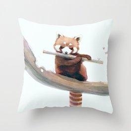 A Winter Morning Song Throw Pillow