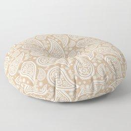 Paisley (White & Tan Pattern) Floor Pillow