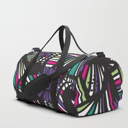 Lined Art Floral Duffle Bag