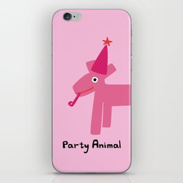 Party Animal-Pink iPhone Skin