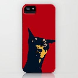 Doberman pet portrait art print iPhone Case