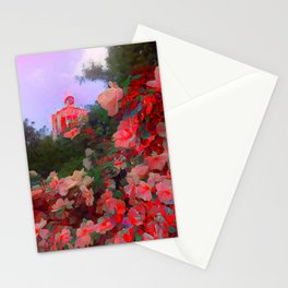 Red Visions of Leipzig Stationery Cards