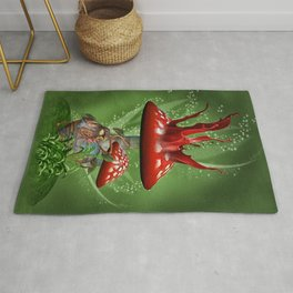 Fairy Mushrooms Rug