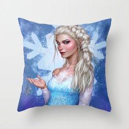 Snow Queen Throw Pillow