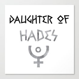 daughter of hades Canvas Print