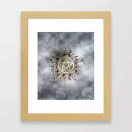 Smokey supernatural Framed Art Print